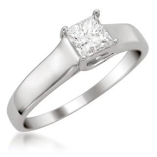 Montebello 14k Gold 1/2ct TDW IGL Certified Diamond Solitaire Engagement Ring