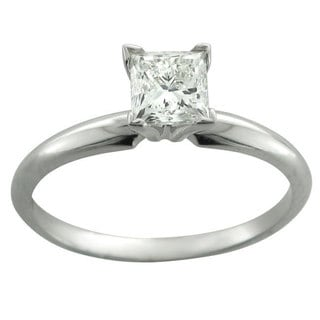 Montebello 14k White Gold 3/4ct TDW Diamond Solitaire Engagement Ring