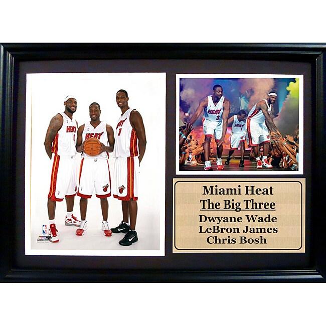 Encore Select Miami Heat 'The Big Three' Photo Stat Frame (12 x 18)