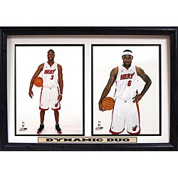 Miami Heat LeBron James and Dwyane Wade 'Dynamic Duo' Plaque (12 x18)