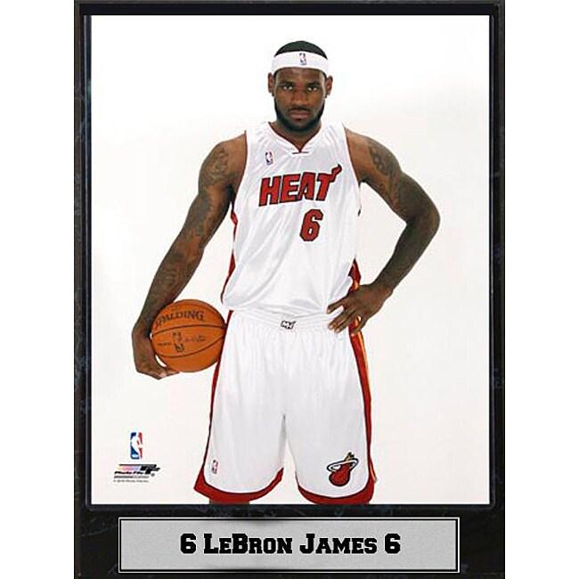 Miami Heat LeBron James Photograph Plaque (9 x12)