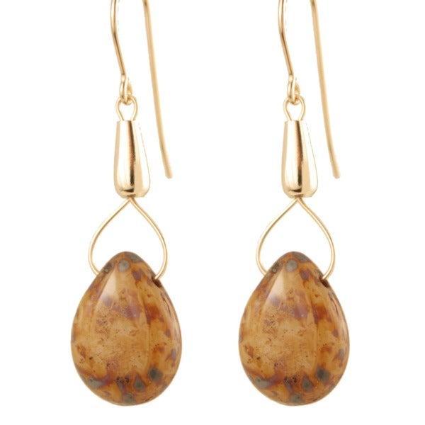'Moon Drops of Jupiter' Glass Bead Earrings
