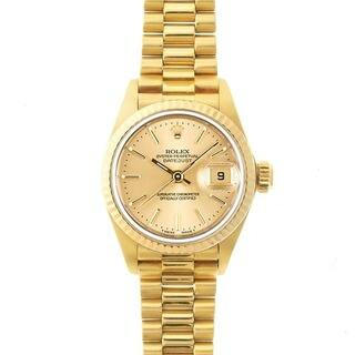 Pre-Owned Rolex Women's President Gold Champagne Dial Watch