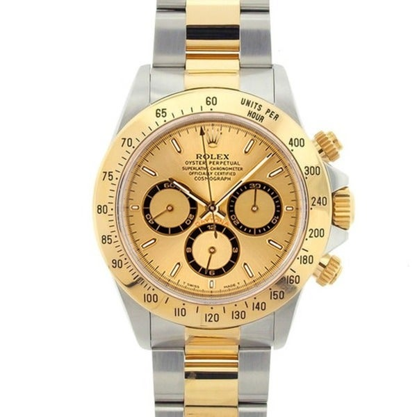 Pre-owned Rolex Men's Daytona Two-tone Gold Watch