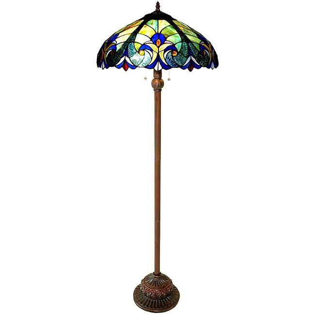 Chloe Tiffany-style 2-light Bronze Victorian Floor Lamp, ...