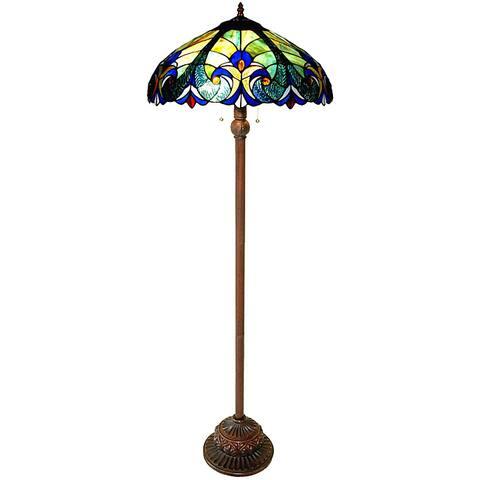 Chloe Tiffany Style 2-light Bronze Victorian Floor Lamp