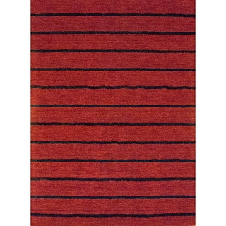 Herat Oriental Indo Hand-tufted Tibetan Red Wool Rug (6'6 x 4'8)