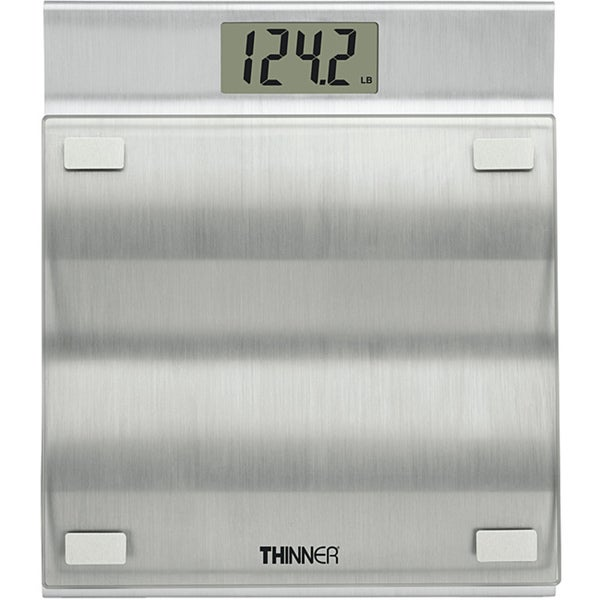 Thinner by Conair 400-pound Capacity Digital Glass Scale