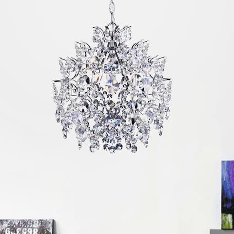 Silver Orchid Taylor Elegant Indoor 3-light Chrome/ Crystal Chandelier