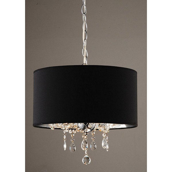 Indoor 3 light black chrome pendant chandelier free shipping indoor 3 light black chrome pendant chandelier aloadofball Gallery