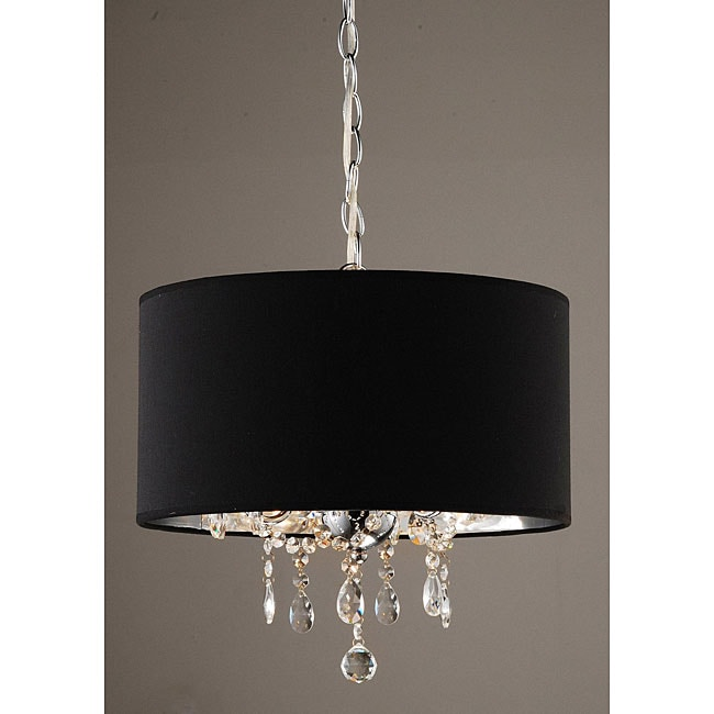 Indoor 3 Light Black Chrome Pendant Chandelier Free