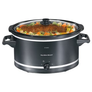 Hamilton Beach 33182 Black 8-quart Slow Cooker