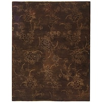 "Safavieh Handmade Soho Fall Brown New Zealand Wool Rug - 8'-3"" x 11'"