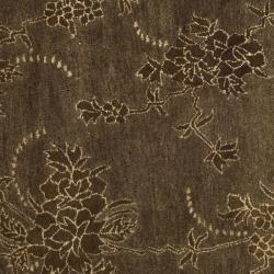 Safavieh Handmade Soho Fall Brown New Zealand Wool Rug (6' Round) - Thumbnail 2