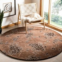 Safavieh Handmade Soho Fall Brown New Zealand Wool Rug - 6' x 6' Round