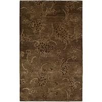 "Safavieh Handmade Soho Fall Brown New Zealand Wool Rug - 3'-6"" x 5'-6"""