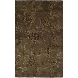 Safavieh Handmade Soho Fall Brown New Zealand Wool Rug (7'6 x 9'6)