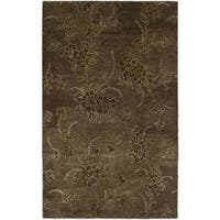 Safavieh Handmade Soho Fall Brown New Zealand Wool Rug (7'6 x 9'6) - 7'6 x 9'6