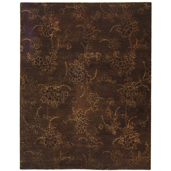 "Safavieh Handmade Soho Fall Brown New Zealand Wool Rug - 7'6"" x 9'6"""