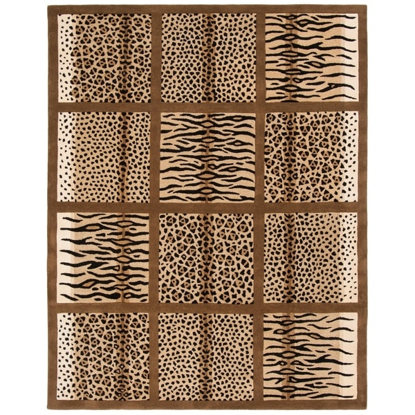 "Safavieh Handmade Soho Jungle Print Beige N. Z. Wool Rug - 9'-6"" x 13'-6"""