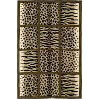 Safavieh Handmade Soho Jungle Print Beige New Zealand Wool Rug - 5' x 8'