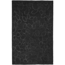 Safavieh Handmade Soho Loops Black New Zealand Wool Rug - 7'6 x 9'6 - Thumbnail 0
