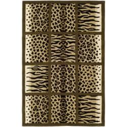 Safavieh Handmade Soho Jungle Print Beige New Zealand Wool Rug - 7'6 x 9'6 - Thumbnail 0