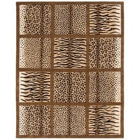"Safavieh Handmade Soho Jungle Print Beige New Zealand Wool Rug - 7'-6"" x 9'-6"""