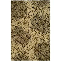 Safavieh Handmade Soho Leopard Beige New Zealand Wool Rug - 8'3 x 11'