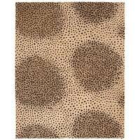 "Safavieh Handmade Soho Leopard Beige New Zealand Wool Rug - 8'-3"" x 11'"