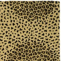 Safavieh Handmade Soho Leopard Beige New Zealand Wool Rug (7'6 x 9'6)