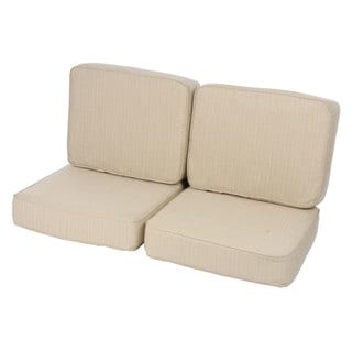 Saranac Teak Loveseat Cushion Set Made with Sunbrella Fabric