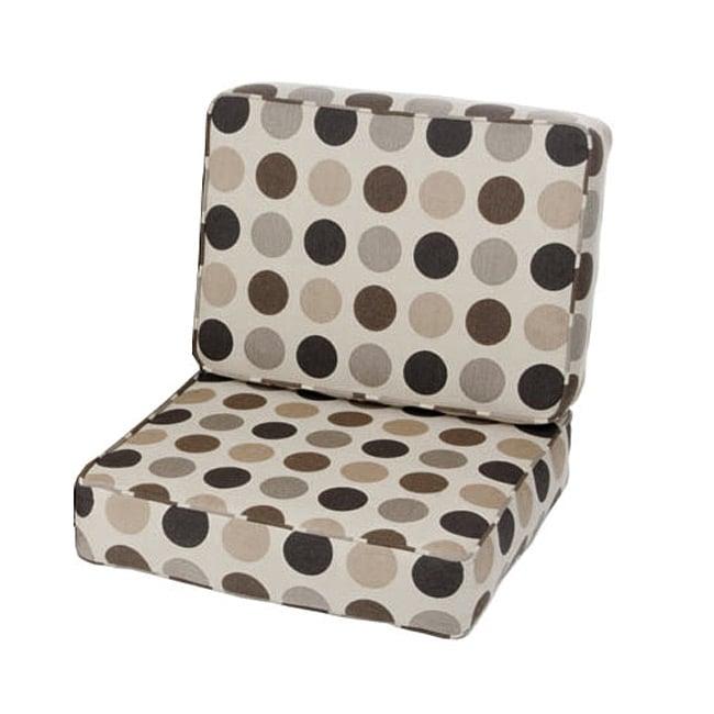 Saranac Teak Lounge Chair Cushion Set Made with Sunbrella Fabric