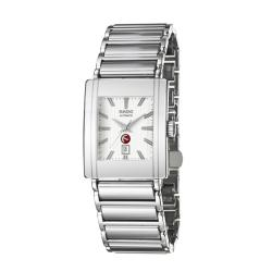 Rado Men's 'Integral' Stainless Steel Ceramic Date Automatic Watch