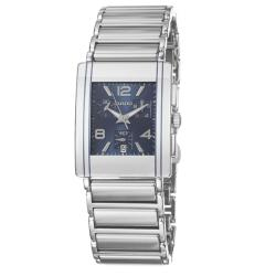 Rado Men's 'Integral' Silver/Blue Stainless Steel/Ceramic Quartz Watch