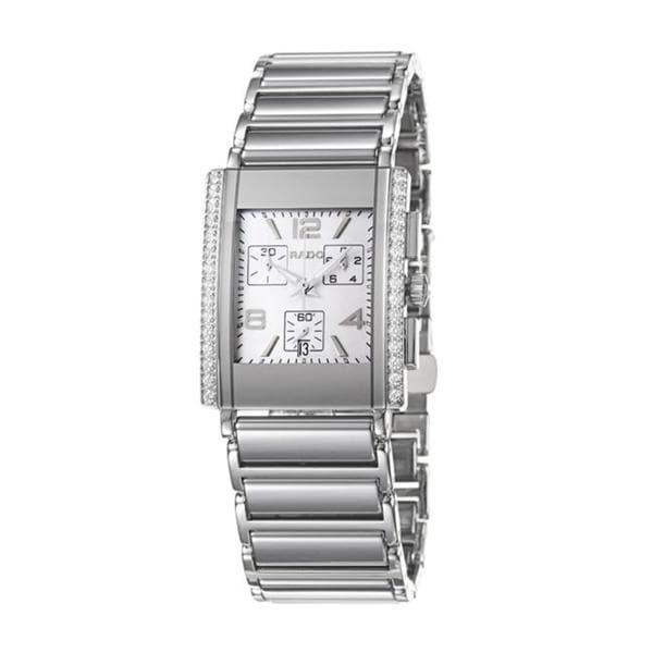 Rado Men's 'Integral Jubile' Ceramic/ Steel Quartz Diamond Watch