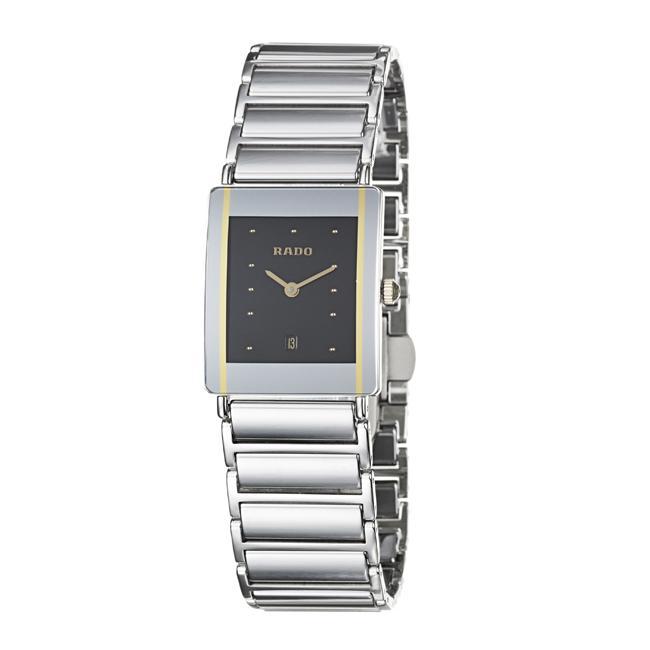 Rado Women's 'Integral' Stainless Steel/ Ceramic Quartz Watch