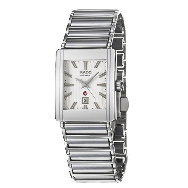 Rado Men's 'Integral' Ceramic/ Steel Date Automatic Watch...