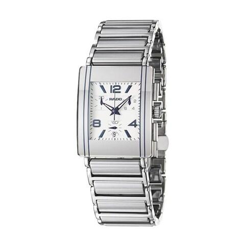 Rado Men's 'Integral' Stainless Steel/ Ceramic Quartz Watch