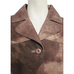 Women's Printed Suede Jacket