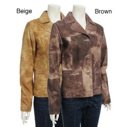 Women's Printed Suede Jacket