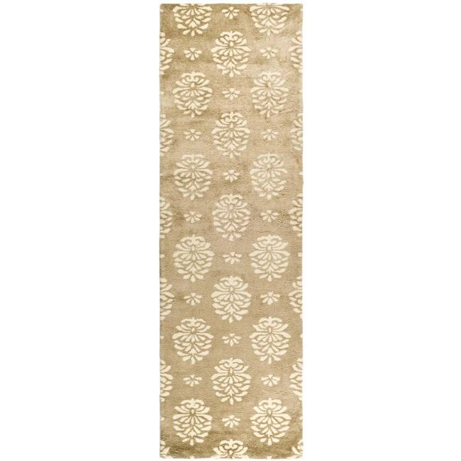 Safavieh Handmade Soho Seasons Beige New Zealand Wool Runner (2'6 x 10')