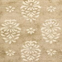 Safavieh Handmade Soho Seasons Beige New Zealand Wool Runner (2'6 x 10') - Thumbnail 2