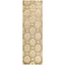 Safavieh Handmade Soho Seasons Beige New Zealand Wool Runner (2'6 x 10')
