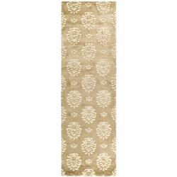 Safavieh Handmade Soho Seasons Beige New Zealand Wool Runner (2'6 x 8')