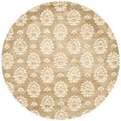 Safavieh Handmade Soho Seasons Beige New Zealand Wool Rug (6' Round)