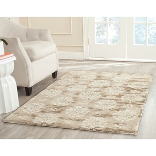 Safavieh Handmade Soho Seasons Beige New Zealand Wool Rug (7'6 x 9'6)