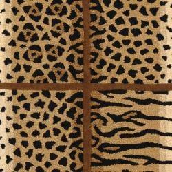 Safavieh Handmade Soho Jungle Print Beige N. Z. Wool Runner (2'6 x 12') - Thumbnail 2