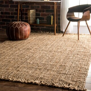 Havenside Home Caladesi Handmade Braided Natural Jute Reversible Area Rug (5' x 8')