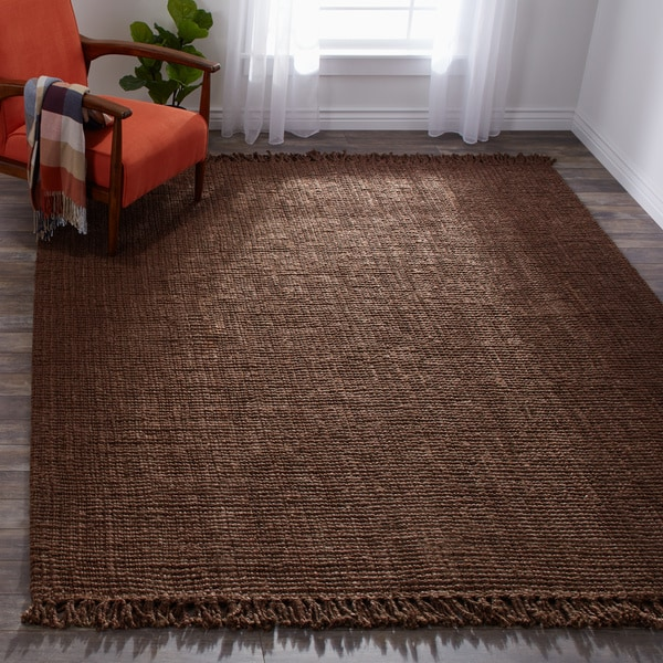 Handmade Braided Natural Jute Reversible Area Rug (7'6 x 9'6)